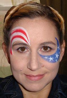 patriotic face paint - Google Search