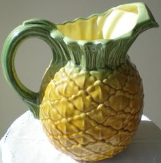 Vintage Majolica-Esque Pineapple Pitcher