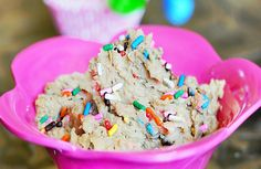 You won't believe the secret ingredient in this #vegan Cake Batter Dip! Also, a more dignified way to eat cake batter straight out of the bowl.