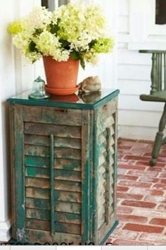 Old Shutters redone into a table