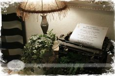 """**My Desert Cottage**: A few Christmas pics before the big day!  An old Remington typewriter, with lyrics to """"Have Yourself a Merry Little Christmas"""""""