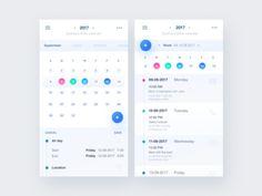 calendar by Natalia Gotówko Form Design Web, App Ui Design, Interface Design, User Interface, Calendar Ui, Calendar Design, Ui Design Mobile, App Design Inspiration, Apps