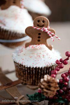 Gingerbread Cookie-Topped Muffins Recipe | Celebrate Creativity