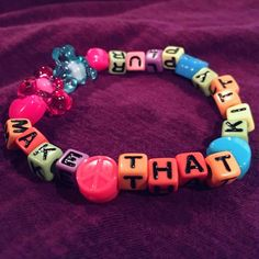 Cute Kandi Bracelet - Make That Kitty Plur  by KandiKweens on Etsy