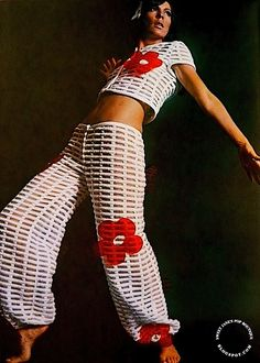 Two piece ensemble by Andre Courrèges, 1967. Photograph by  Roland Bianchini.