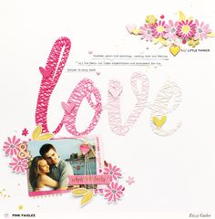 Let your picture be the main inspiration for your Anniversary layouts! @pinkpaislee @enzamg #ppohmyheart #scrapbooking #stringart