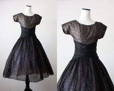 Items similar to party dress - moonlight serenade dress on Etsy 1950s Party Dresses, 50s Dresses, Vintage Dresses, Vintage Outfits, Wedding Dresses, Vintage Clothing, Classic Style, Retro Style, My Style