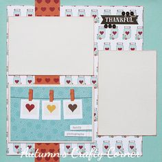 Family Photographs - Premade Scrapbook Page 12x12 Layout