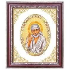 The Sai Baba Wallpaper frame in this wall hanging                           http://diviniti.co.in/en/the-frames-for-offering-of-sai-baba-aarti