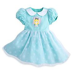 Alice in Wonderland Party Dress for Baby | Disney Store Our polka dot Alice frock for baby, featuring embroidered details and puffed sleeves, is <i>exaketededly</i> right for any party or special play date.