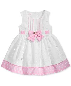 264435f8f0b Bonnie Baby Dot-Print Eyelet Dress