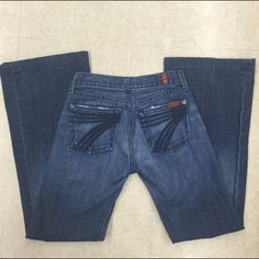 7 for All Mankind dojo denim jeans Gently worn , dojo style , inseam 30 inches, size 25 7 for all Mankind Jeans