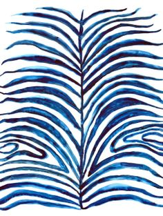 PALM FROND By Britt Browne A collection of indigo prints for Stampa! Illustrations, Illustration Art, Love Blue, Blue And White, Textures Patterns, Print Patterns, Pattern Designs, Estilo Tropical, Shades Of Blue