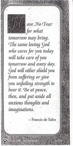 Peace prayer of St Frances de Sales