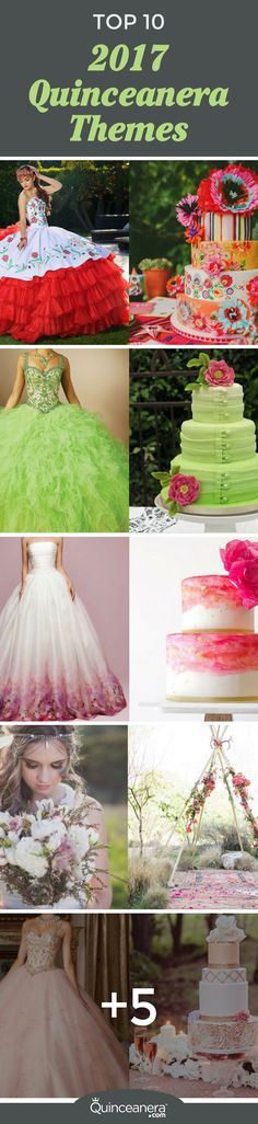 Top 10 2017 Quinceanera Themes - Quinceanera These quinceanera themes will soon become popular so choose your favorite before your friends claim Sweet 16 Dresses, 15 Dresses, Cute Dresses, Flower Girl Dresses, Wedding Dresses, Quinceanera Themes, Quinceanera Dresses, Quince Themes, Quince Ideas