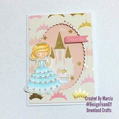 Today I am sharing my first card with Pretty Princess from Downland Crafts. Royal Cupcakes, Grey Dye, Shaker Cards, Copic Markers, Dream Big, Elf, Fairy Tales, Card Making, Paper Crafts