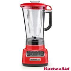 Liquidificador KitchenAid com 05 Velocidades Vermelho – KUA15AV – Ideal para Agitar, picar, misturar, preparar purê e liquefazer. Confira na Fast Shop.
