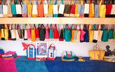 Tote collection at our store! #echopark #silverlake #losfeliz #losangeles #1970 #1970sdesign #1970sinteriors