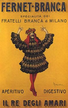 King Fernet Branca Dress Milano Italia Italian Drink Bar Italy Cappiello Vintage Poster Repro FREE S Vintage Italian Posters, Vintage Advertising Posters, Vintage Advertisements, Vintage Ads, Poster Vintage, Poster Ads, Poster Prints, Italian Drinks, Retro