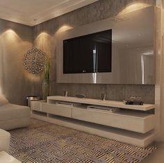 Classy Living Room, Living Room Modern, Living Room Designs, Small Living, Bedroom Modern, Tv Cabinet Design, Tv Wall Design, Living Room Wall Units, Living Room Decor