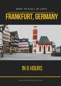 If you have a layover in Frankfurt, Germany - get out of the airport and explore! Some of the most iconic Frankfurt sights are so close by...