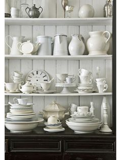 Probably a favorite look is white dishes against a white or light background. I just adore the simplicity of the combination.