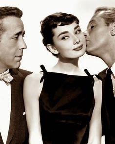 Humphrey Bogart, Audrey Hepburn y William Holden Sabrina 1954