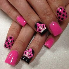 Pink and black and crowns