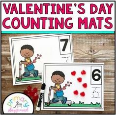 Valentine's Day Heart Counting Mats 1 - 20 - Primary Playground