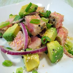 Grilled Tuna and Avocado Salad   A Spicy Perspective #salad #grilled #tuna #avocado