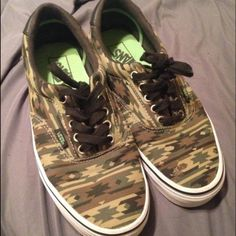 Aztec camo vans Great condition only worn twice! Women's 10/ men's 8.5 Vans Shoes Sneakers