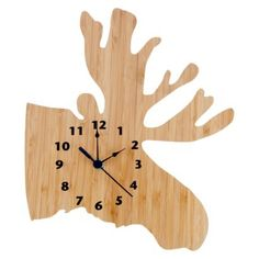 I want this!!!  Northwoods Moose Clock by Trend Lab
