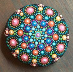 Mandala Stone by InspiredHeartArt on Etsy