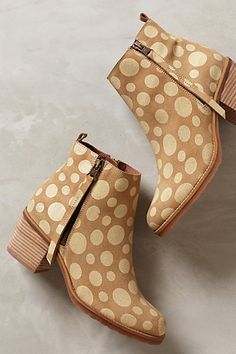 Freckled Booties - anthropologie