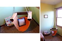 Reading Nook Hanging Chair ~ Sugar Bee Crafts
