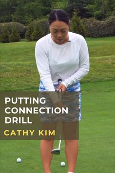 Cathy Kim's putting connection drill will help you get a good feel for the path of the club head during your stroke. #golf #golftip #golfswing #golflessons #womensgolf Golf Books, Golf Score, Golf Putting Tips, Golf Chipping, Best Golf Courses, Golf Instruction, Golf Exercises, Golf Training, Golf Lessons