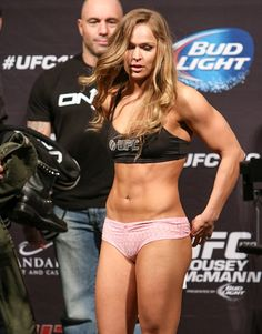 """Ronda Jean Rousey (born February 1, 1987) is an American mixed martial artist, judoka and actress. She is the first and current UFC Women's Bantamweight Champion, as well as the last Strikeforce Women's Bantamweight Champion. She is undefeated, having won eight of her ten fights. Rousey became the first American woman to earn an Olympic medal in Judo at the Summer Olympics in Beijing in 2008."""