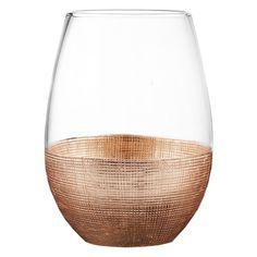Found it at Wayfair - Linen 20 oz. Stemless Glass