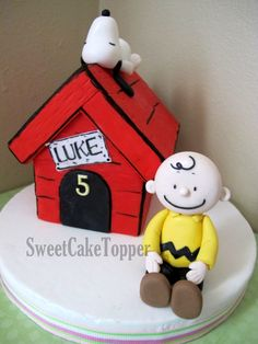 Snoopy, Charlie Brown #cake #toppers