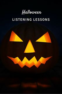 Listening lessons for Halloween: Blog post with YouTube videos, suggestions, a freebie, and more! Perfect for any music classroom!
