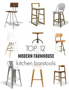 Top 12 Modern Farmhouse Kitchen Barstools from Industry West
