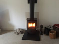 This twin wall system install looks great with the Newbourne - one of our best selling stoves. Stoves, Twin, Home Appliances, Wood, House Appliances, Skillets, Woodwind Instrument, Timber Wood, Stove