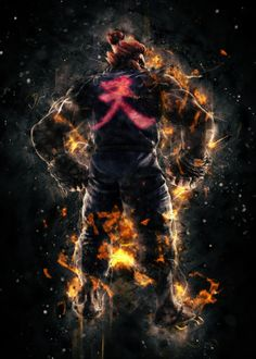 Stunning artworks from Street Fighter collection. Our Displate metal prints will make your walls awesome. Bryan Tekken, Street Fighter Wallpaper, Akuma Street Fighter, Street Fighter Characters, Gaming Posters, Dope Wallpapers, Hero Arts, New Artists, Anime