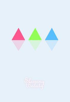 Sleeping Beauty by Phoebe Kate -- Minimal Movie Posters