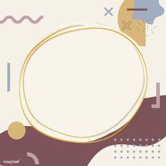 memphis design Gold frame on Memphis design pattern background vector Memphis Design, Bg Design, Pattern Design, Powerpoint Background Design, Memphis Pattern, Instagram Frame, Cute Notes, Cute Stickers, Pattern Background