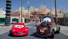 Los Angeles Area Theme Parks: Cars Land at Disney California Adventure Park.