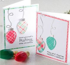 Xmas Cards, Diy Cards, Holiday Cards, Christmas Love, Handmade Christmas, Christmas Crafts, Lawn Fawn Stamps, Christmas String Lights, Scrapbook Cards