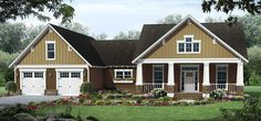 Attractive Craftsman Home With Bonus Room - 51166MM | 1st Floor Master Suite, Bonus Room, CAD Available, Country, Craftsman, Den-Office-Library-Study, Northwest, PDF, Photo Gallery, Split Bedrooms, USDA Approved | Architectural Designs