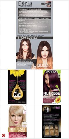 Shop Target for perm Colors For Skin Tone, Lip Colors, Purple Hair Highlights, Color Highlights, Dark Brunette Hair, Bronde Haircolor, Permanent Hair Color, Grunge Hair, Hair Conditioner