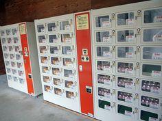 En ook deze automaat met allerlei soorten eieren vind je alleen maar in Japan!